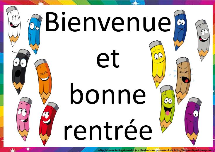 Affiche De Bienvenue Pour La Rentr E Le Blog D 39 Aliaslili