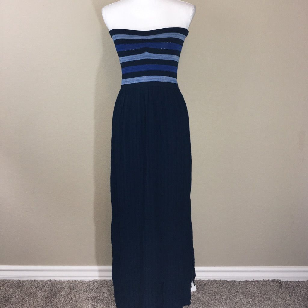Rachel Roy Striped Tube Top Maxi Dress