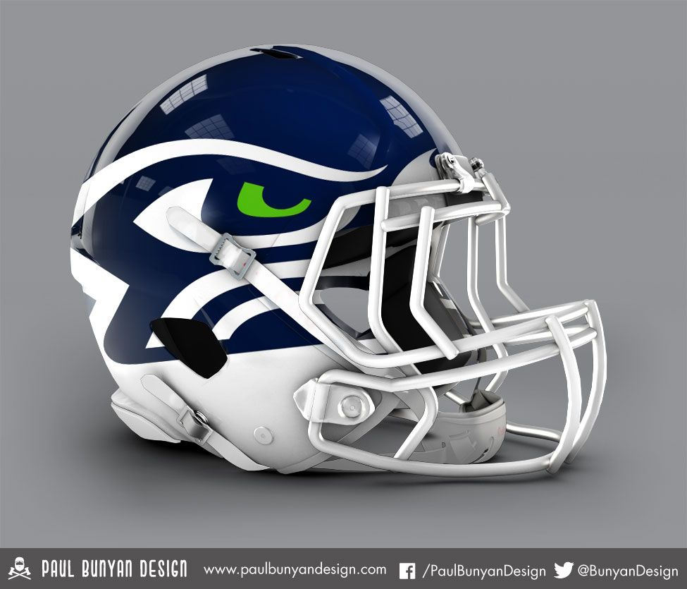Seattle Seahawks - NFL Concept Helmet by Paul Bunyan Design