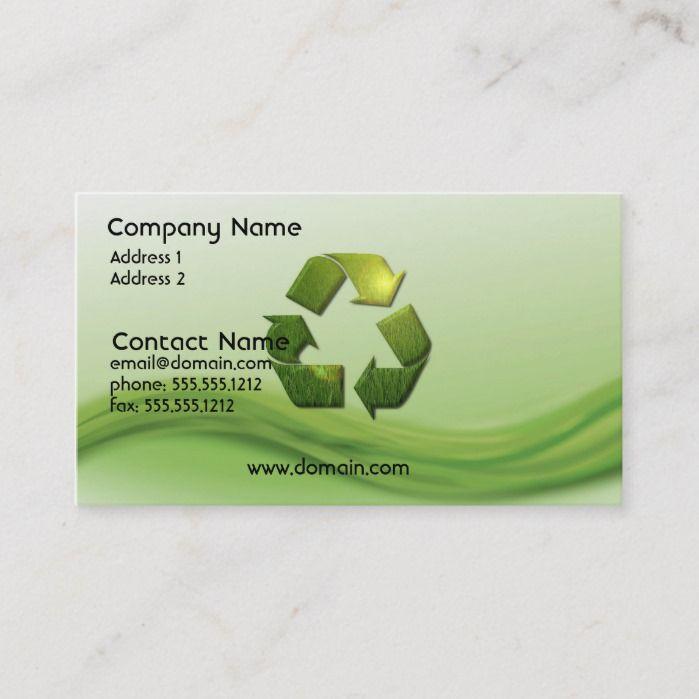 Recycle Symbol Business Card Zazzle Com Recycle Symbol Business Cards Business Card Size