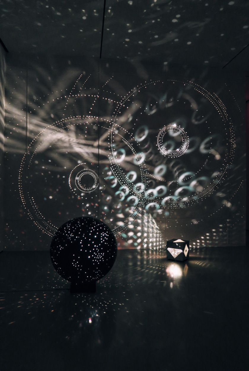 Otto Piene light art installation reminds me of starry night skies #lightartinstallation