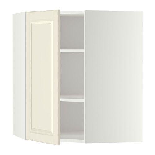 Metod Bovenhoekkast Met Planken, Wit, Veddinge Wit | Corner Wall