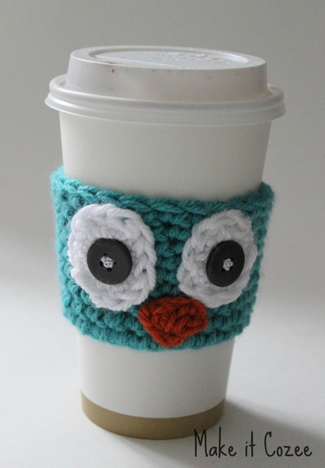 Crochet Owl Coffee Cozy I knew peeps that would love this | Crochet ...