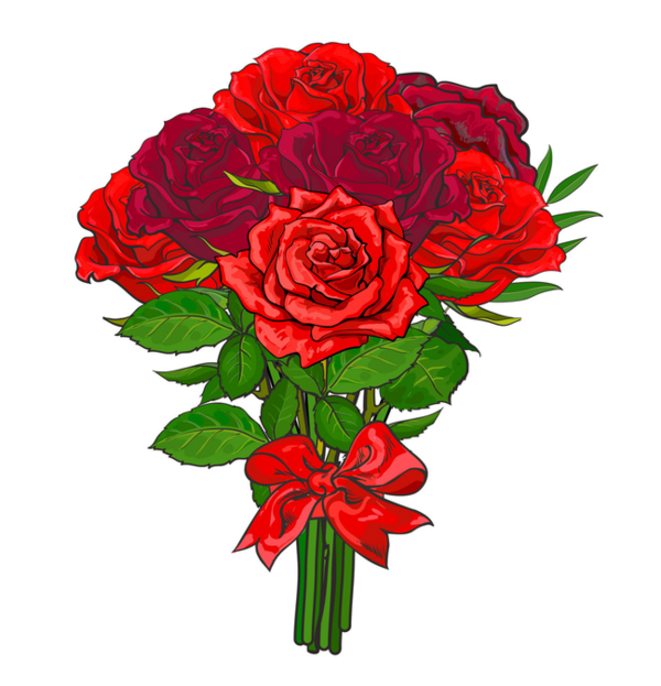 Pin By Kristina Croes On Floral Deco Red Roses Flower Icons Hand Drawn Vector Illustrations