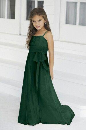 9014069ef Hunter green junior bridesmaid dress | Wedding | Bridesmaid dresses ...