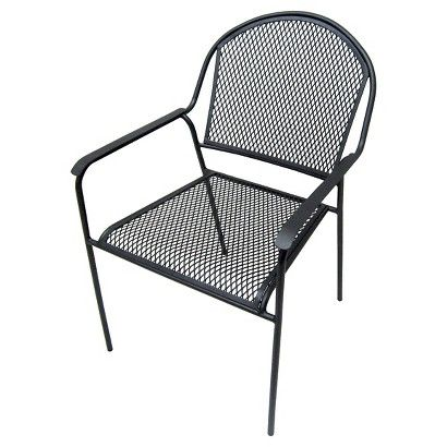 Threshold Metal Mesh Dining Chair Outdoor Decor
