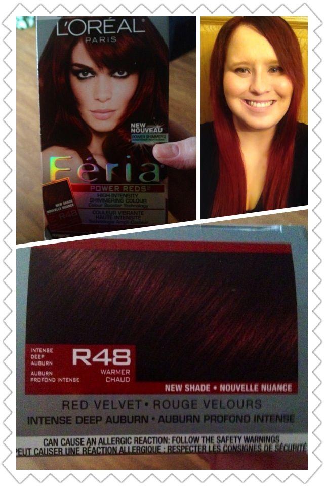 L Oreal Paris Feria Power Reds In R48 Intense Deep Auburn Red