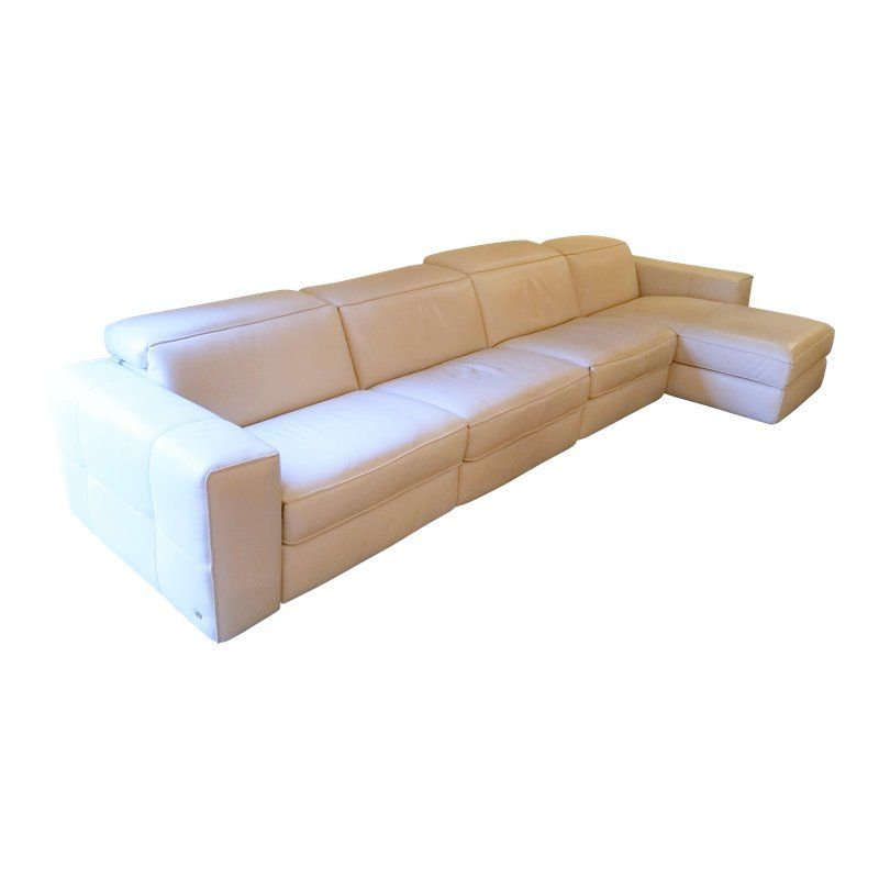 Surprising Natuzzi 4 Pc Brio Sectional Recliner Sofa In Off White Pabps2019 Chair Design Images Pabps2019Com