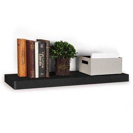 "Target Floating Shelves Delectable Way Basics 36"" Wall Shelf And Eco Floating Display  Black Made Design Ideas"