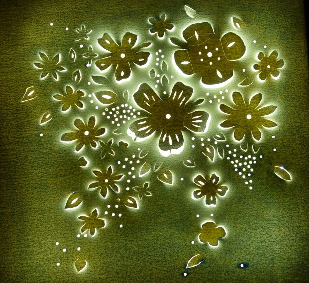 Flower Leinwand Mit Led Beleuchtung Led Beleuchtung Led Beleuchtung