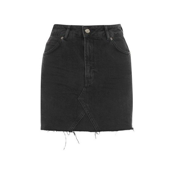 1888ebcce5 Topshop Moto Denim Mini Skirt ($41) ❤ liked on Polyvore featuring skirts,  mini skirts, washed black, topshop mini skirt, denim mini skirt, summer  skirts ...