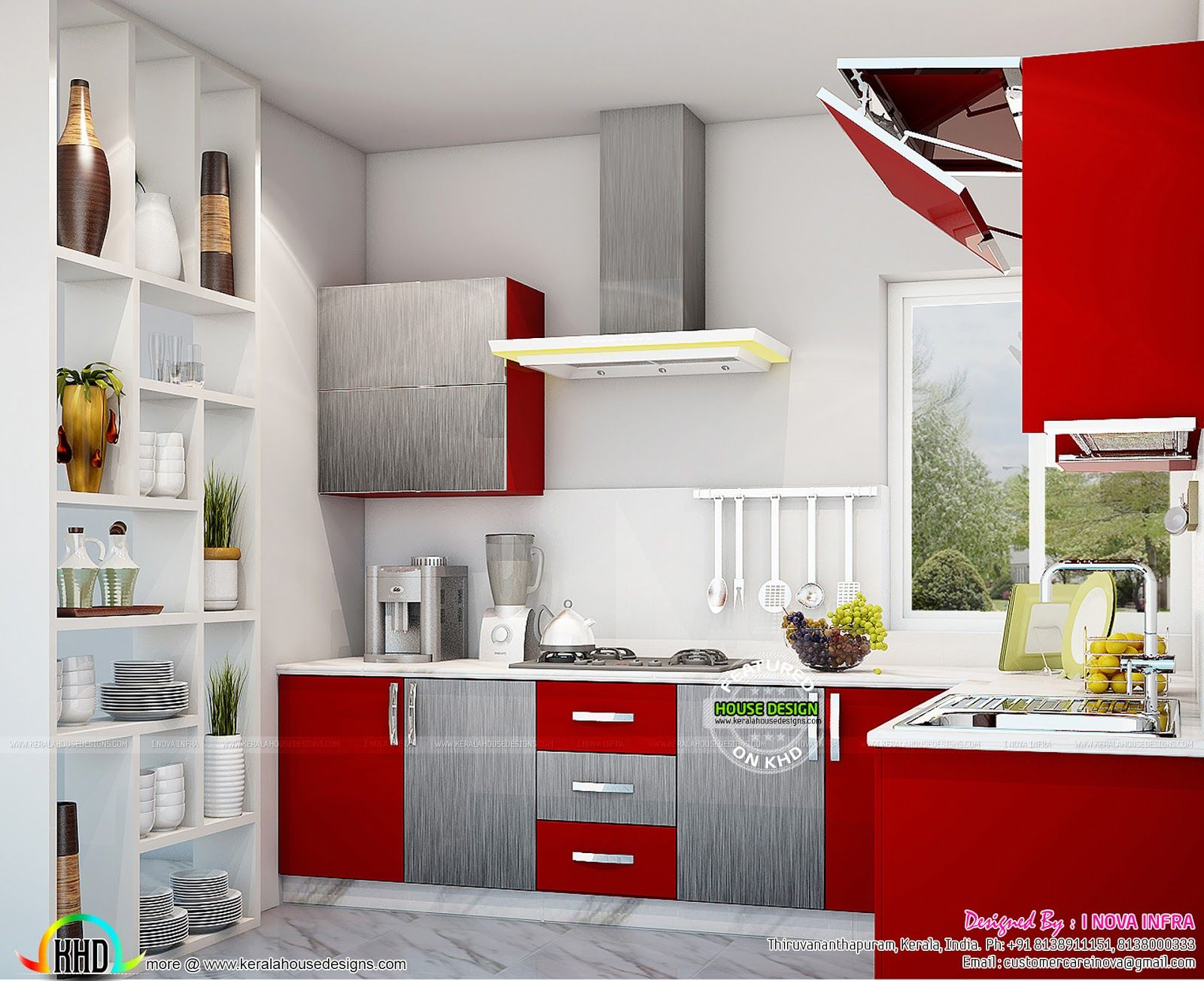 Kitchen interior works at trivandrum kerala home design also renovation rh pinterest