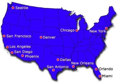 La On Us Map.The Map Of The Us La Is At The West Coast Los Angeles Us Map