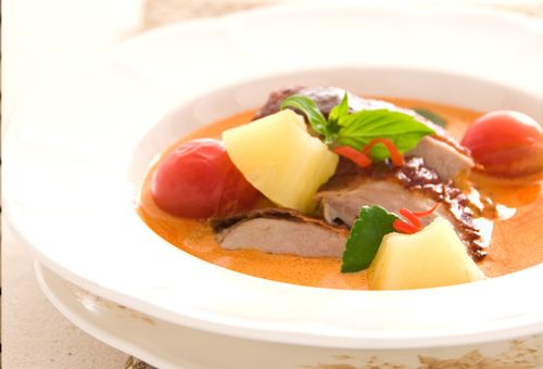 Roasted Duck in Spicy Red Curry