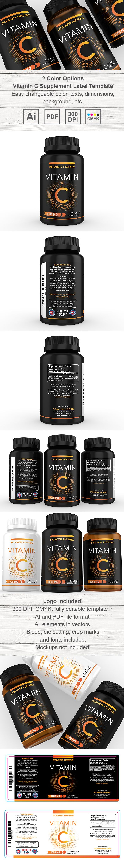 Vitamin C Supplement Label Template HttpWwwDlayoutsCom