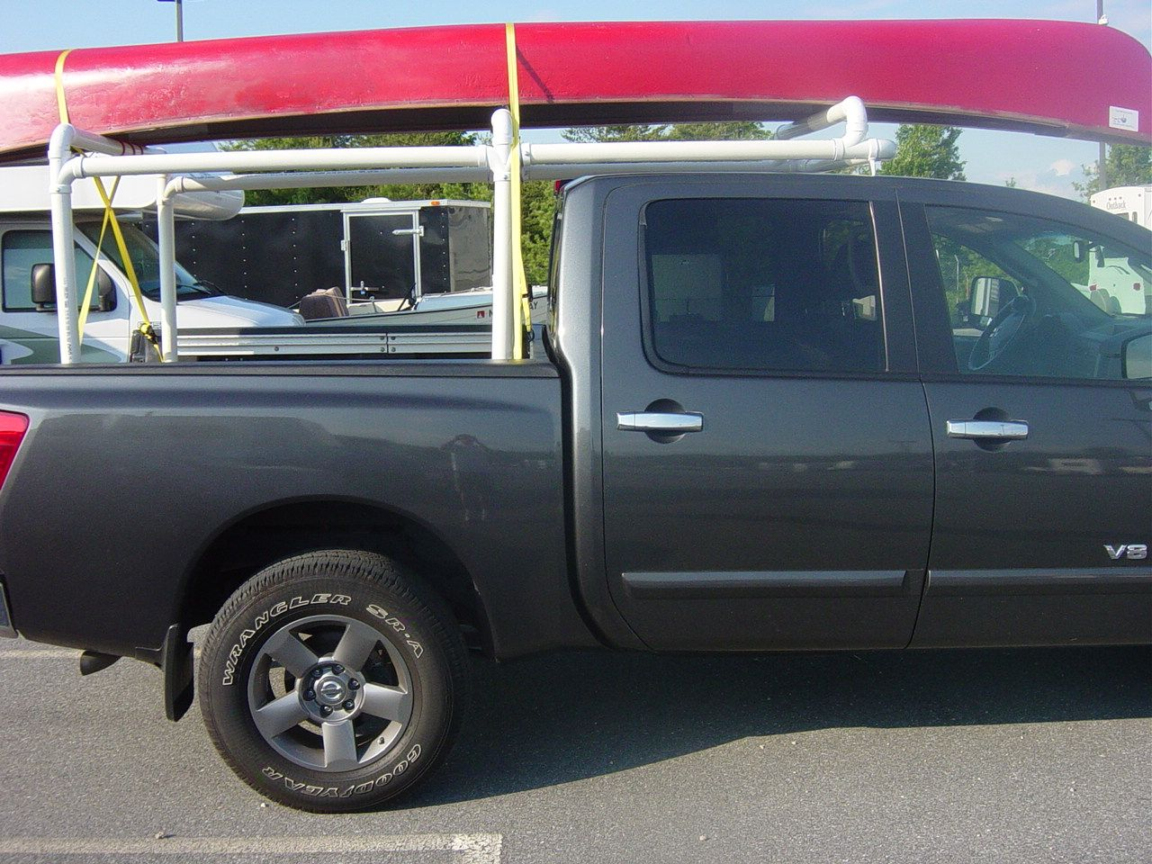 Diy Pvc Canoe Rack For Truck Google Search Pvc