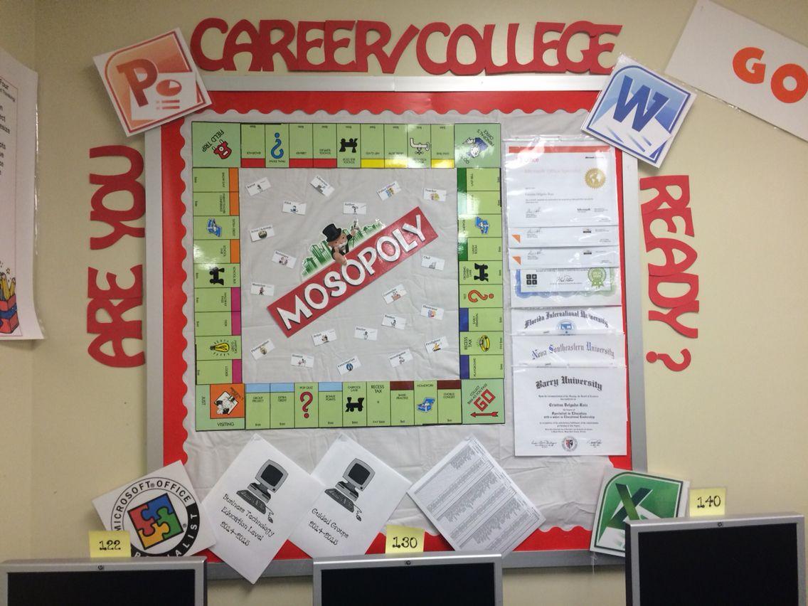 mosopoly microsoft monopoly bulletin board school setting board