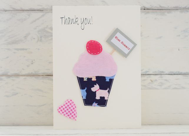 Thank You Cupcake Card - Personalised £2.00