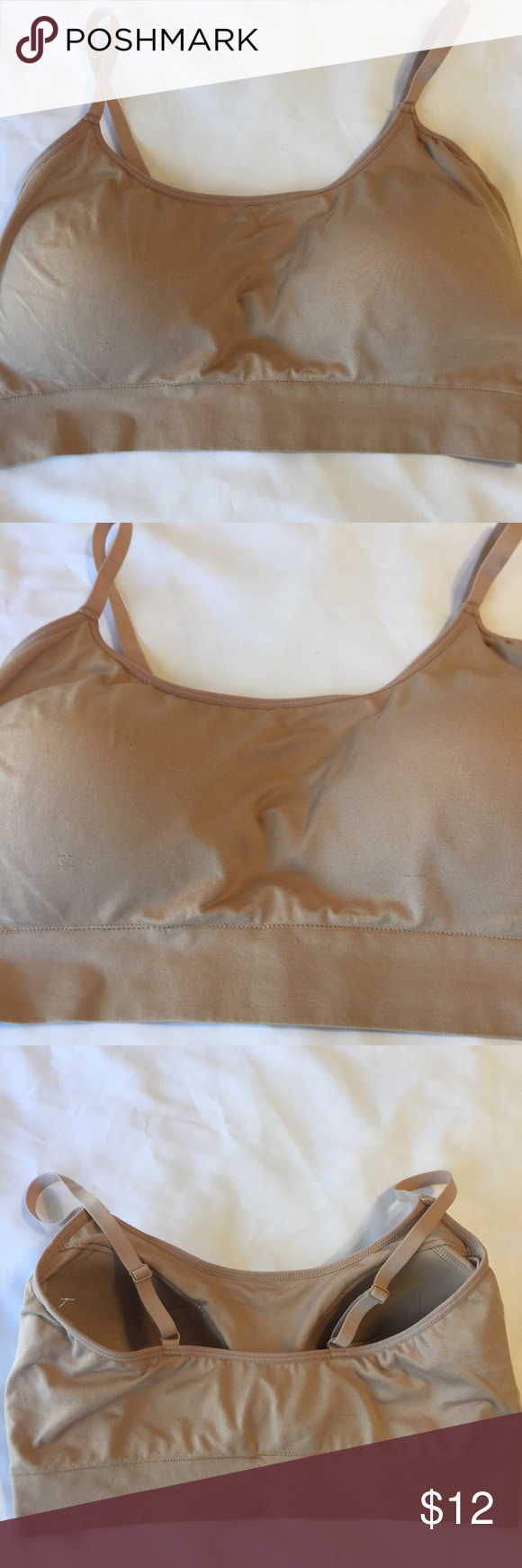 XL Beige Sports Bra. Gilligan & O'Malley XL Beige Sports Bra. Never worn but does have a few snags in it. Gilligan & O'Malley Intimates & Sleepwear Bras
