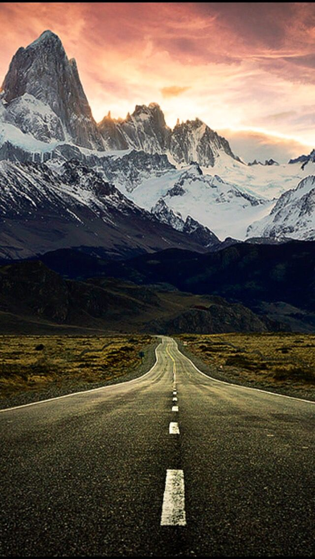 Mount Fitzroy And A Pink Sunset Source Flickrcom Beautiful Road