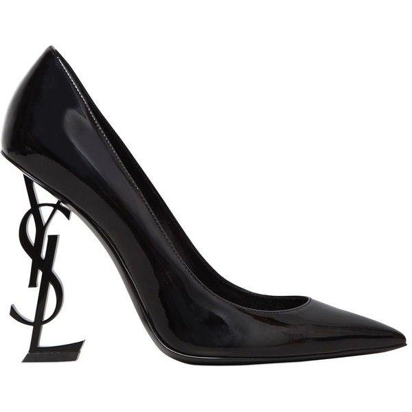 Saint Laurent Women 110mm Opium Logo Patent Leather Pumps ( 995) ❤ liked on  Polyvore featuring shoes 367d072c6c
