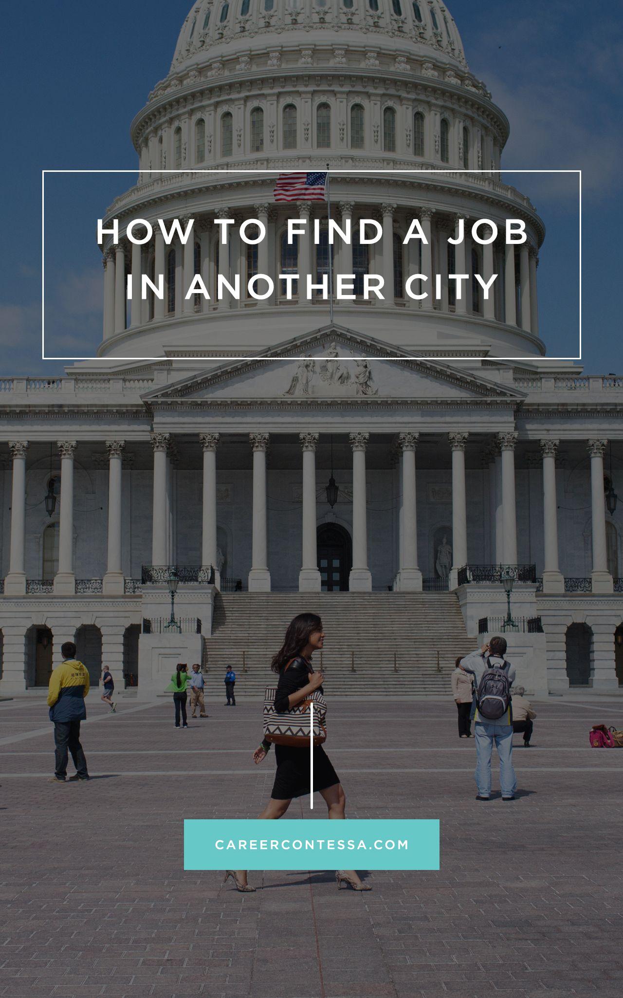 How to find a job in a new city find a job job search