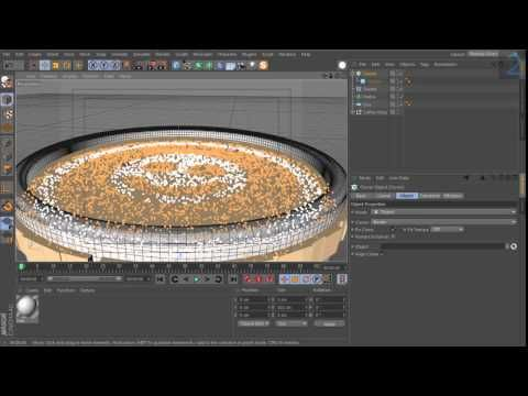 Cinema 4d Coffee Logo Effect Cinema 4d Tutorials Cinema 4d Tutorial Cinema 4d Coffee Logo