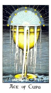 June 5 Tarot Card: Ace of Cups (Cosmic deck) This is the beginning