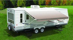 There are 3 Carefree Fiesta Models:  Standard Fiesta Vinyl Patio Awning with Vinyl Weatherguard  Fiesta Armored Vinyl Patio Awning with Alumaguard  Fiesta LTD Acrylic Patio Awning with Alumaguard