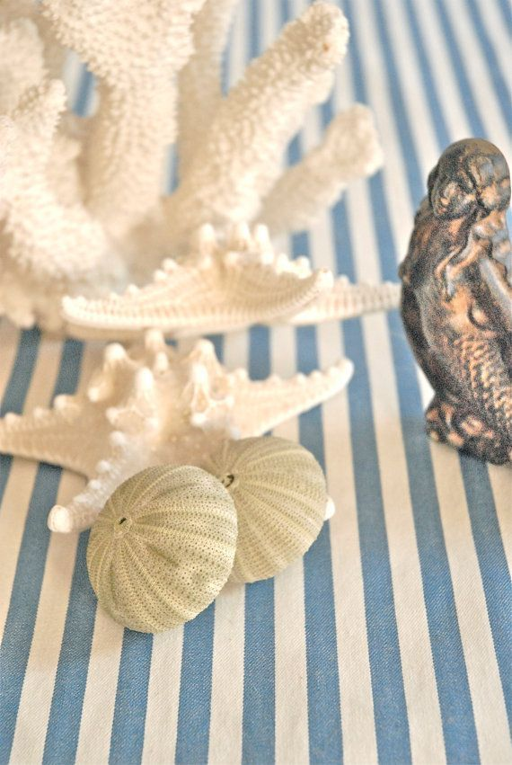 beach linen runners | Striped Blue Table Runner Nautical Wedding Beach Wedding by Jessmy, $ ...