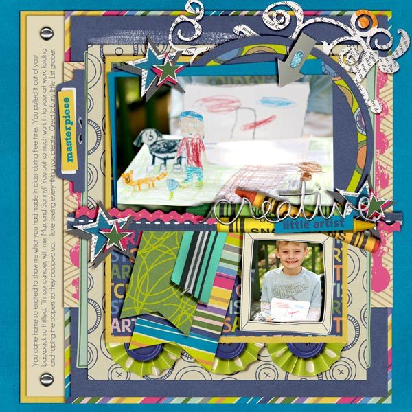 Everything found at Peppermint Creative:    Missy's Templates Set. 7     Artsy Fartsy Kit  Crayons  Stapled Tabs  Color Coded: Flat Ribbons