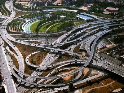 WEEK10 - This image shows landscape with densely situated highways. Even though it has some green areas, it looks still undesirable in the urban viewpoint. Maybe they should put green right beside the each highway.