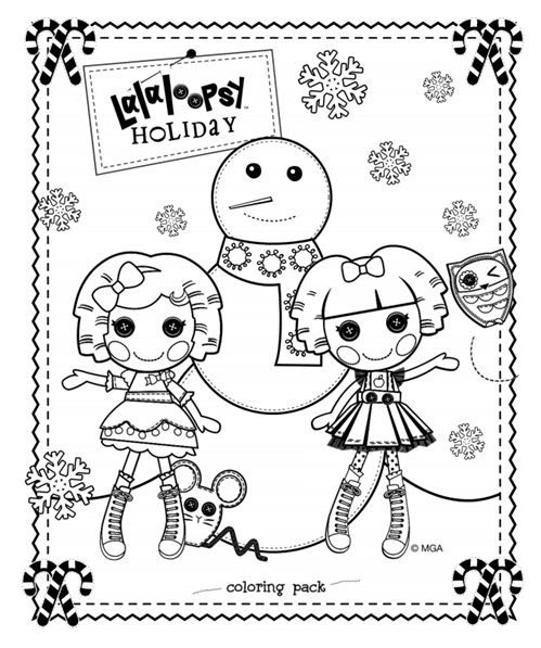 celebrate the season with this lalaloopsy hoilday coloring pack