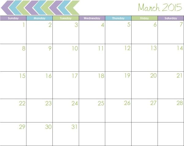 Download March 2015 Calendar Usa Printable Cute March 2015 Calendar