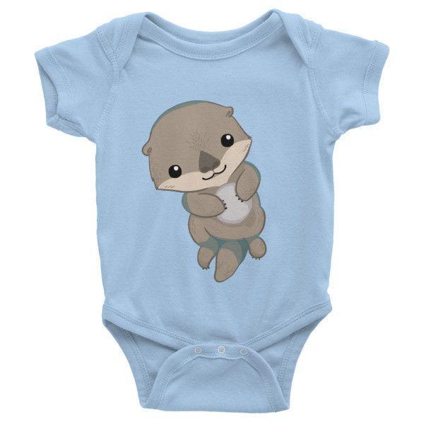 Otter Love Toddler Baby Boy Girl Long Sleeve Infant Bodysuit