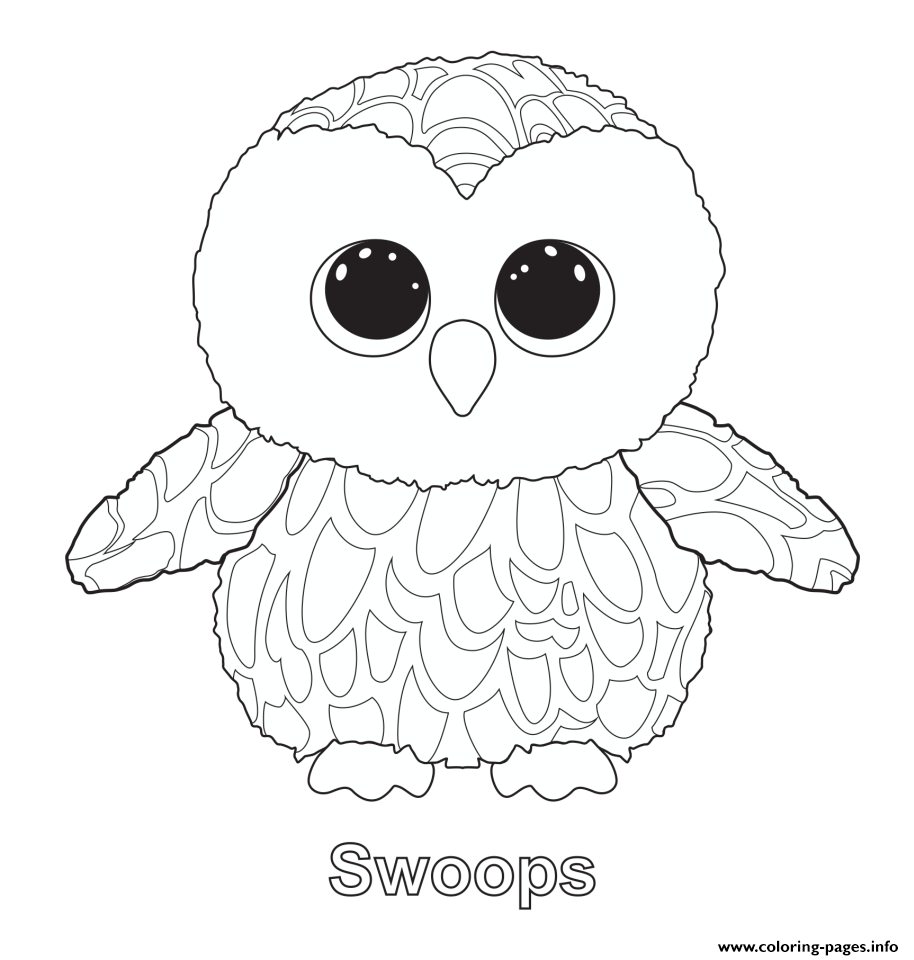 Print swoops 2 beanie boo coloring pages patterns