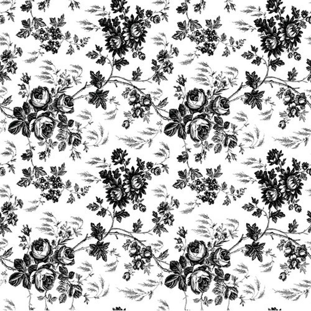 Black white rose toile vinyl contact paper sheet shelf drawer magic cover adhesive vinyl contact paper for lining shelves and drawers decorating and craft projects x toile black jeuxipadfo Image collections