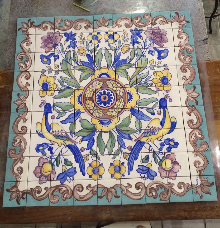 Azulejos pintados a moda portuguesa cer mica protuguesa Pintar azulejos a mano