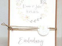 Exklusive Hochzeitseinladung 3 Tlg 14cm X 14cm Diy Vintage And