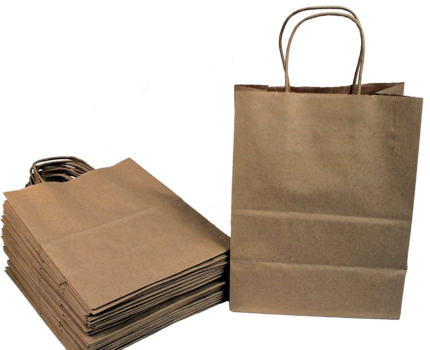 Creative Hobbies 24 Brown Medium Paper Gift Handle Bags Approx 8 X 5 X 10 Size Shopper Wedding 100 Recycled Paper Us Creative Hobbies Gifts Paper Gifts