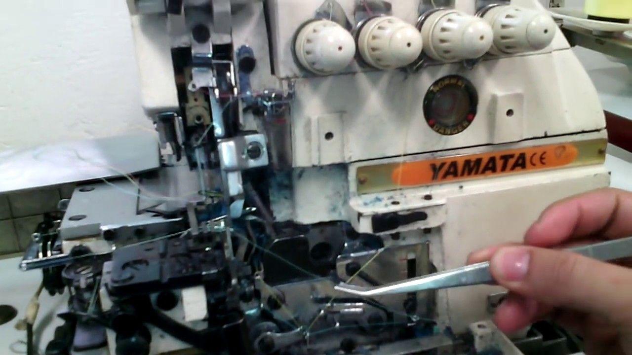 como enhebrar la OVERLOCK 5 HILOS PASO A PASO | mecanica