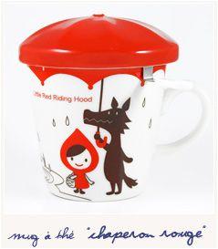 tasse th petit chaperon rouge avec filtre et chapeau. Black Bedroom Furniture Sets. Home Design Ideas