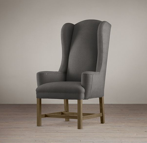 RHu0027s Belfort Wingback Fabric Armchair:Our Reproduction Of The Classic  English Wing Chair Has Petite