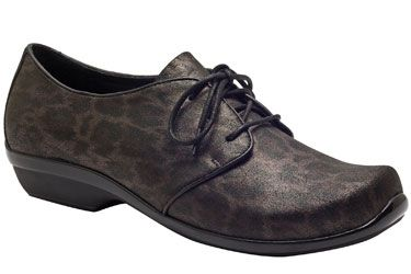 0c7aad182c64 Enjoy a timeless oxford with leopard print in Dansko s  Olive  in Metallic!