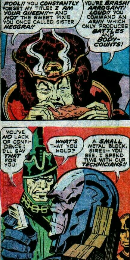 Darkseid With His Mother Heggra And Uncle Steppenwolf Darkseid New Gods His Eyes