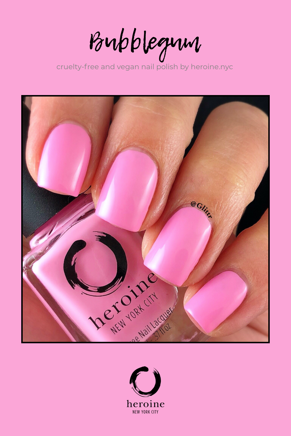 BUBBLEGUM in 2020 Nail polish, Nails, Cruelty free nail