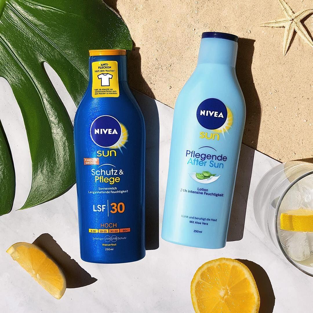 Am Strand Schützt Euch Die Nivea Sun Schutz Pflege Sonnenmilch Vor Sonnenbrand Anschließend Sorgt Die Pf After Sun Hautpflegeprodukte Bäder Und Körperpflege