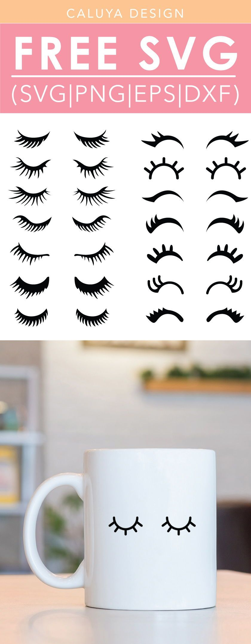 Free Eyelash Bundle SVG, PNG, EPS & DXF by Caluya Design