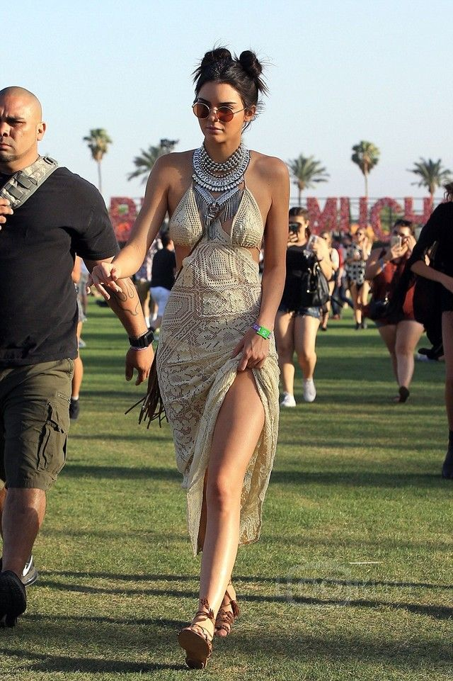 88163ab357c Kendall Jenner wearing Vintage Crochet Dress