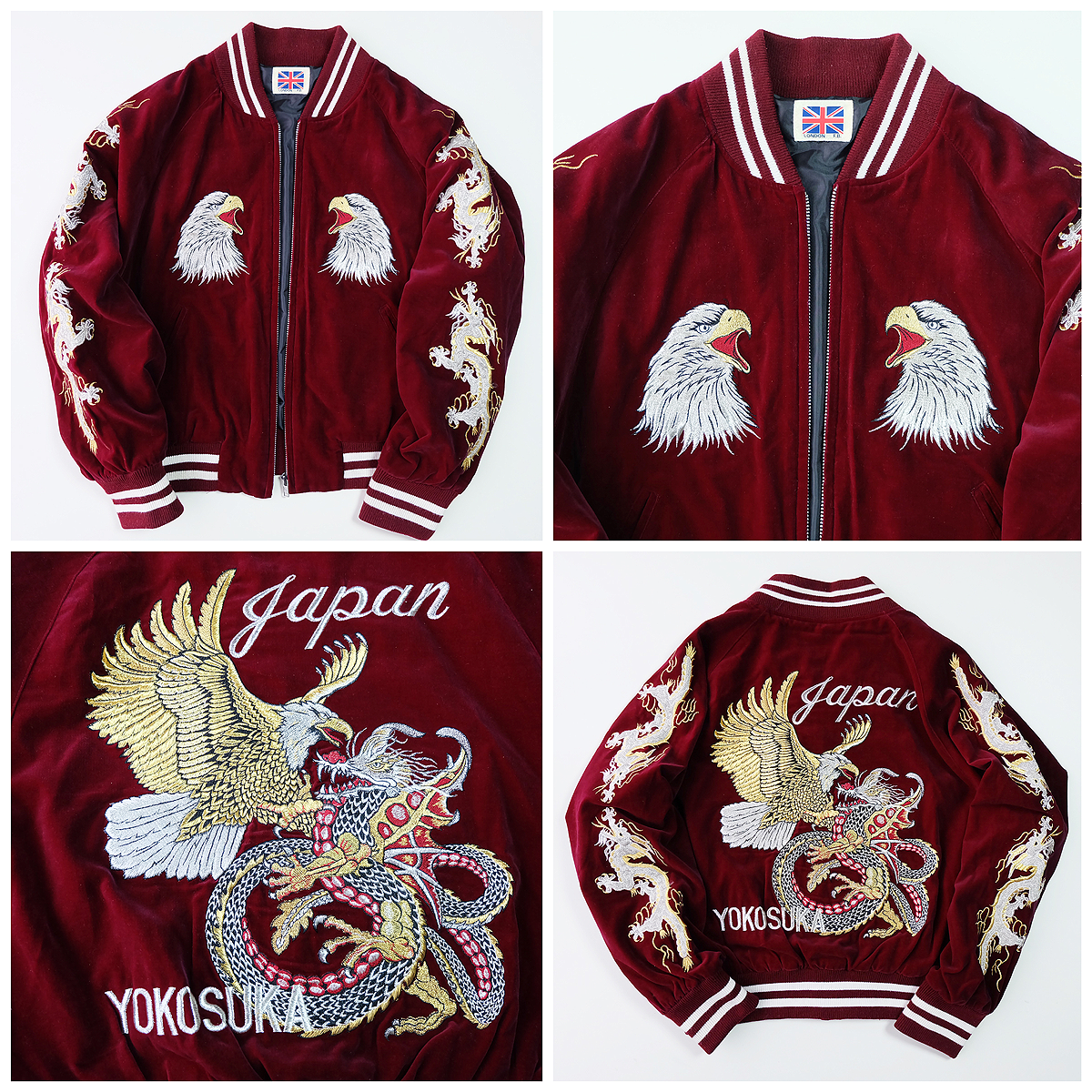 f83c08f74 Japanese Japan VINTAGE Yokosuka Eagle Dragon Ryu Battle Gold ...